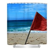 The Red Flag Shower Curtain