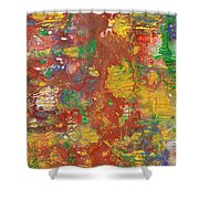 The Red Garden Path Shower Curtain
