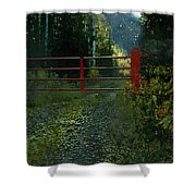 The Red Gate Shower Curtain