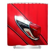 The Red Jag Shower Curtain