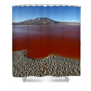 The Red Lagoon Shower Curtain
