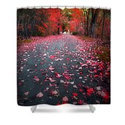 The Red Leaf Shower Curtain