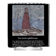 The Red Lighthouse Shower Curtain