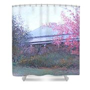 The Red Maple Tree Shower Curtain
