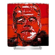 The Red Monster Shower Curtain
