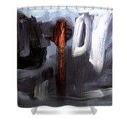 The Red One  Shower Curtain
