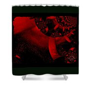 The Red Planet Cometh Shower Curtain