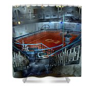 The Red Pool Shower Curtain