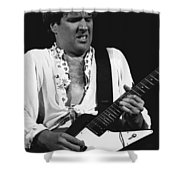 The Red Rocker In Black And White Shower Curtain