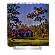 The Red Roof Barn Shower Curtain by Marvin Spates