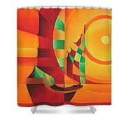 The Red Sea Shower Curtain by Tracey Harrington-Simpson