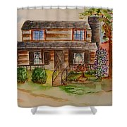 The Red Sleigh Shoppe Shower Curtain
