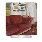 The Red Sofa Shower Curtain