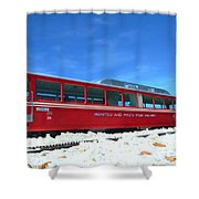 The Red Train Shower Curtain