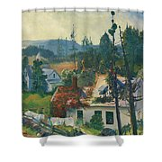 The Red Vine. Matinicus Island. Maine Shower Curtain