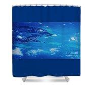 Bermuda Blue, Aerial Shower Curtain