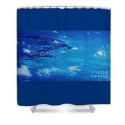 Bermuda Blue, Aerial Shower Curtain