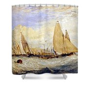 The Regatta Beating To Windward Shower Curtain