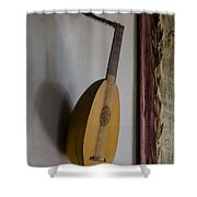 The Renaissance Lute Shower Curtain