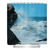 The Restless Sea Digital Art Shower Curtain