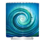 The Return Wave Shower Curtain