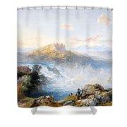 The Rhine Falls At Schaffhausen Shower Curtain