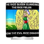 The Rice Queen  And The Corn Queen Cd Demo From The Wheat-shire Collection Shower Curtain