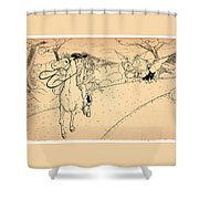 The Ride Of Paul Revere Shower Curtain