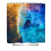 The Right Direction - Abstract Art By Sharon Cummings Shower Curtain