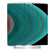 The Rings Of Saturn Shower Curtain