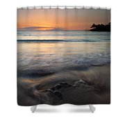 The Rise And Fall Shower Curtain by Mike  Dawson