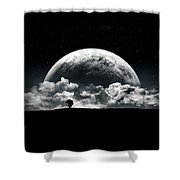 The Rise Of A Planet II Shower Curtain