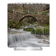 The River And The Village Shower Curtain