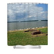 The River At Jamestown Shower Curtain