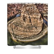 The River Did It Shower Curtain by Heather Applegate