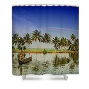 The River Man Shower Curtain