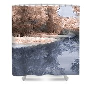 The River - Near Infrared Shower Curtain