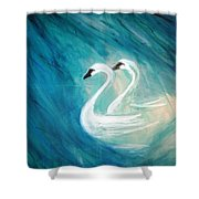 The River Of Swans Shower Curtain