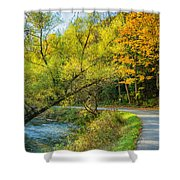 The River Road Curve Shower Curtain