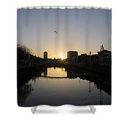 The River Swiffey At Sunrise - Dublin Ireland Shower Curtain