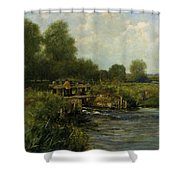 The River Thames Shower Curtain