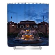 The Riviera On Geneva Lake Wi Shower Curtain