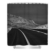 The Road Ahead-infrared Shower Curtain