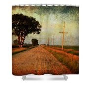 The Road Home Shower Curtain by Julie Hamilton