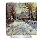 The Road Home Shower Curtain by Peder Monsted