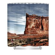 The Road Through Arches Shower Curtain