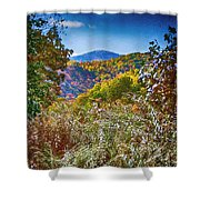 The Road To Cataloochee On A Frosty Fall Morning Shower Curtain