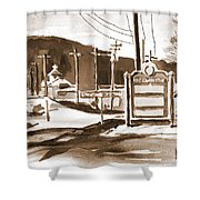 The Road To Farmington Pilot Knob Missouri Shower Curtain
