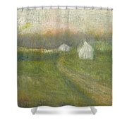 The Road To Jesse James Farm Shower Curtain