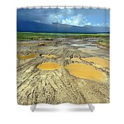Bumpy Road To Khovd Shower Curtain